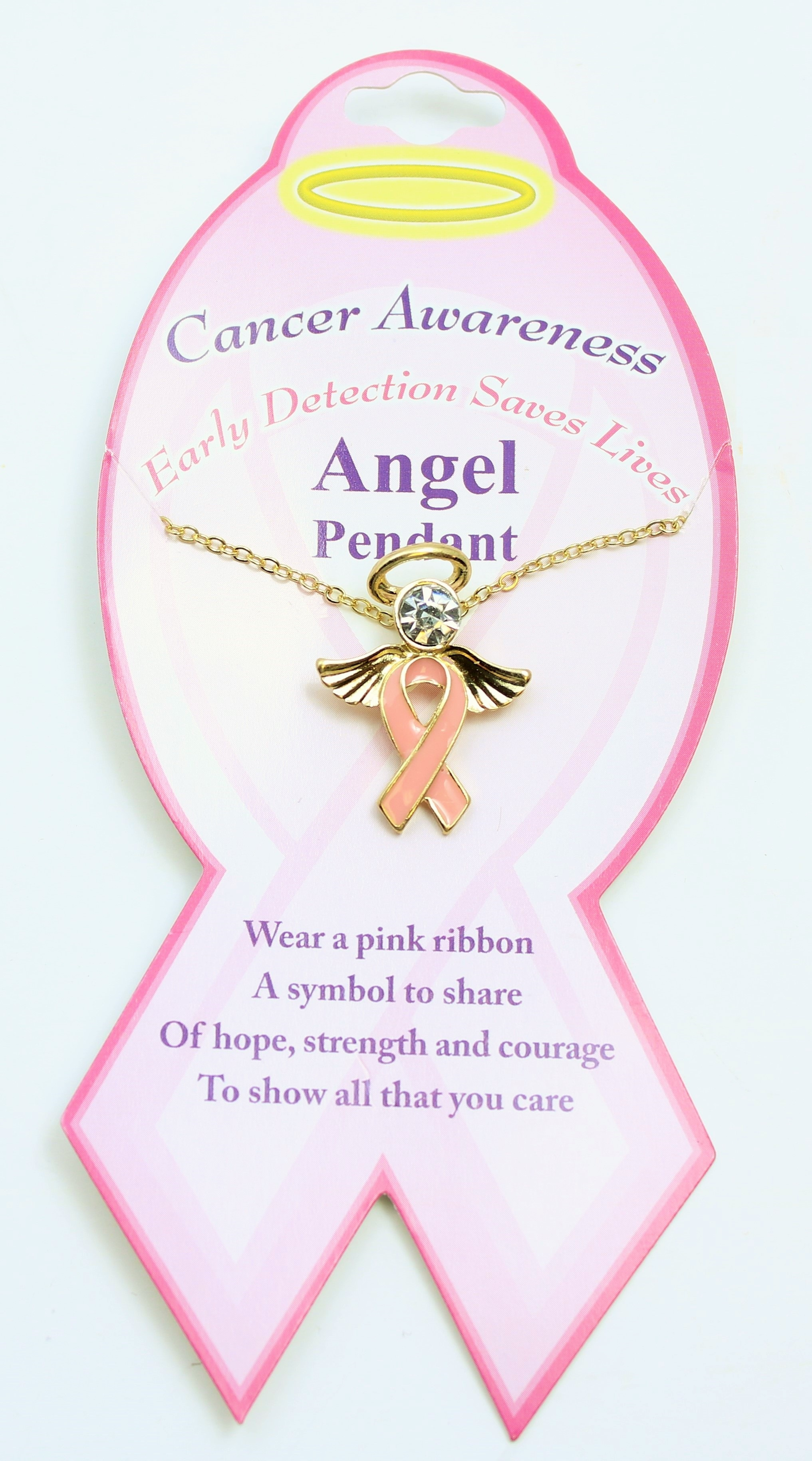 Heartwood Creek, Breast Cancer Awareness Angel Ornament