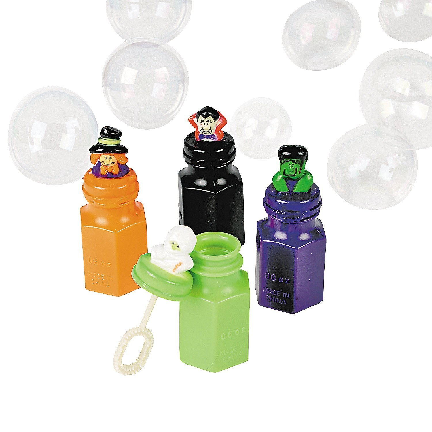 24 Halloween Character Bubble Bottles - Party Favors & Bubbles