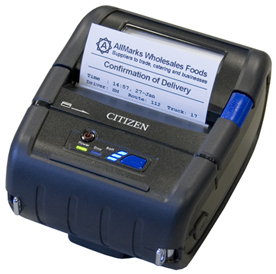CITIZEN, CMP-30, MOBILITY PRINTER, 3 INCH BLUETOOTH, LABEL, APPLE IOS CERTIFICATION