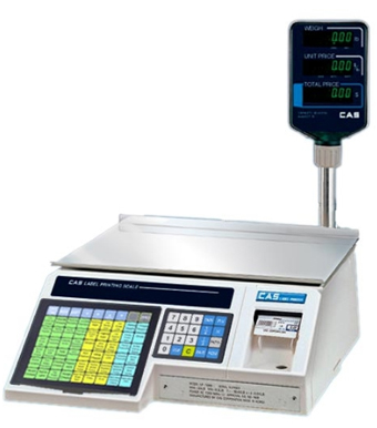 CAS CORP, SCALE, LABEL PRINTING SCALE, 30 LB, WITH POLE DISPLAY