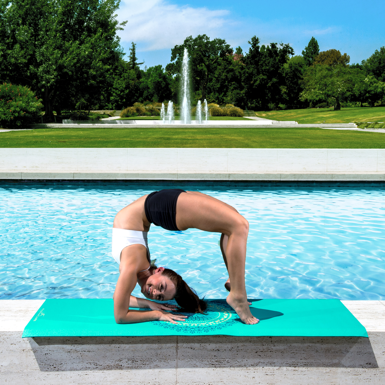 "ProsourceFit 72/""x24/"" Printed Designs Yoga Pilates Exercise Mat"