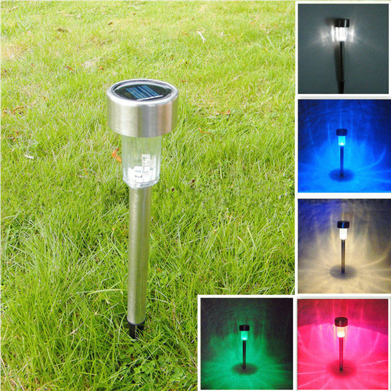 Outdoor Solar Power Color Changing Led Lawn Path Yard Garden Light Lamp Colorful Ebay