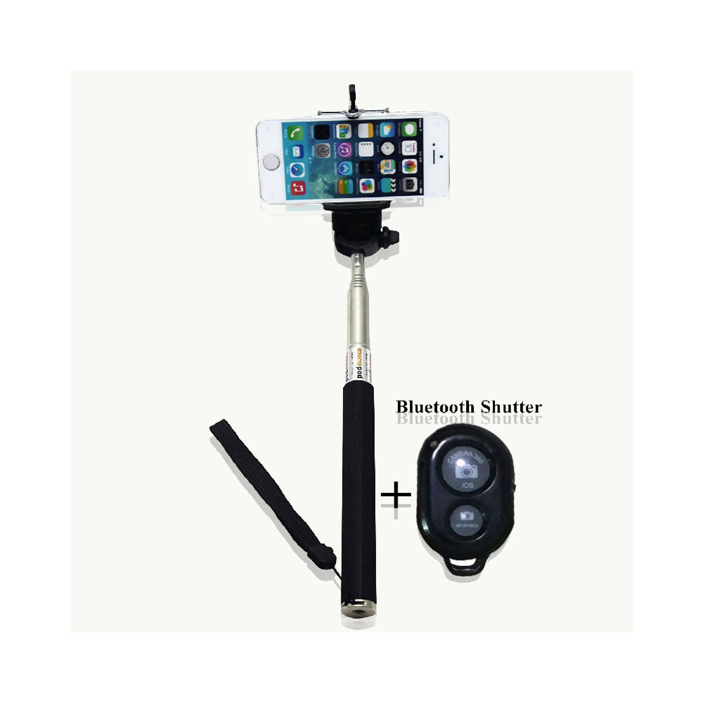extendable selfie stick phone holder remote shutter monopod for phone android. Black Bedroom Furniture Sets. Home Design Ideas