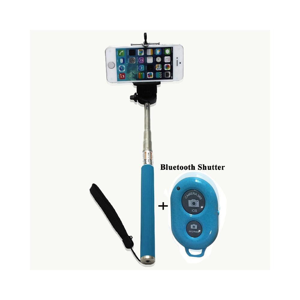 extendable selfie stick phone holder remote shutter monopod for phone android ebay. Black Bedroom Furniture Sets. Home Design Ideas