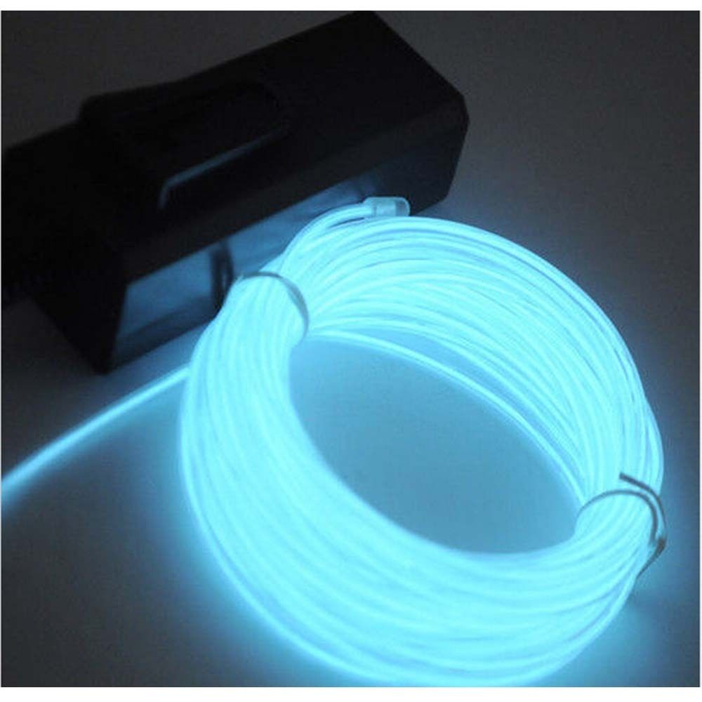 flexible neon led light el 1m rope with battery conctoller party decor. Black Bedroom Furniture Sets. Home Design Ideas