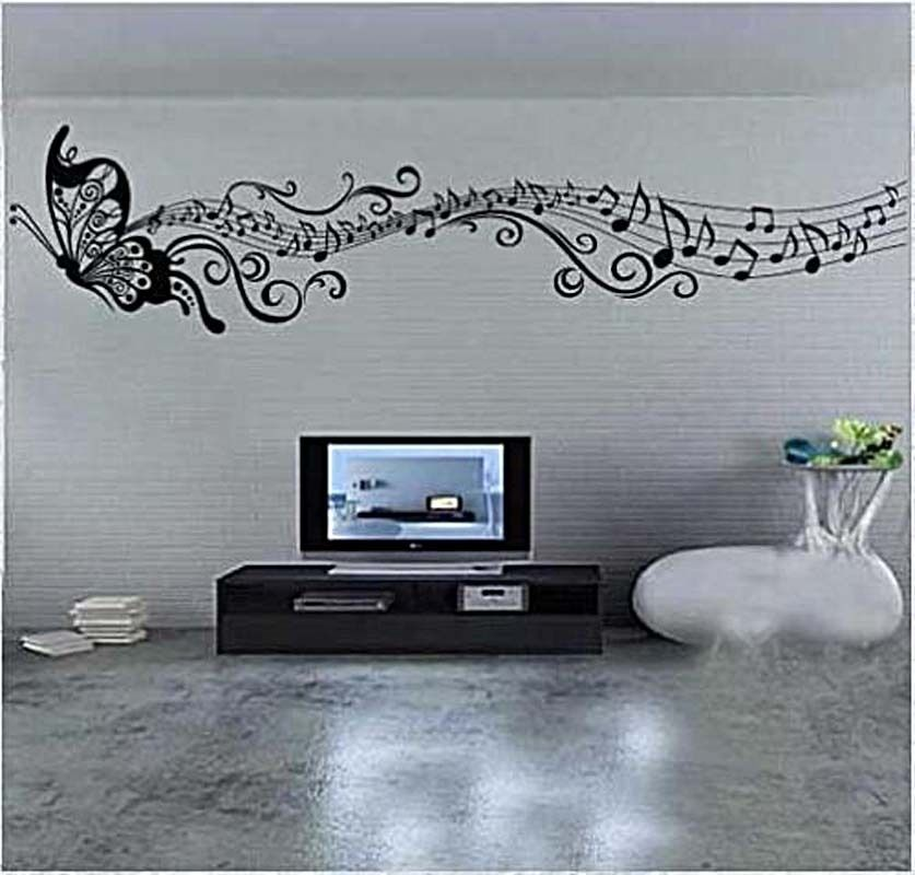 Classical music butterfly room decor diy decals mural wall for Music room decor diy