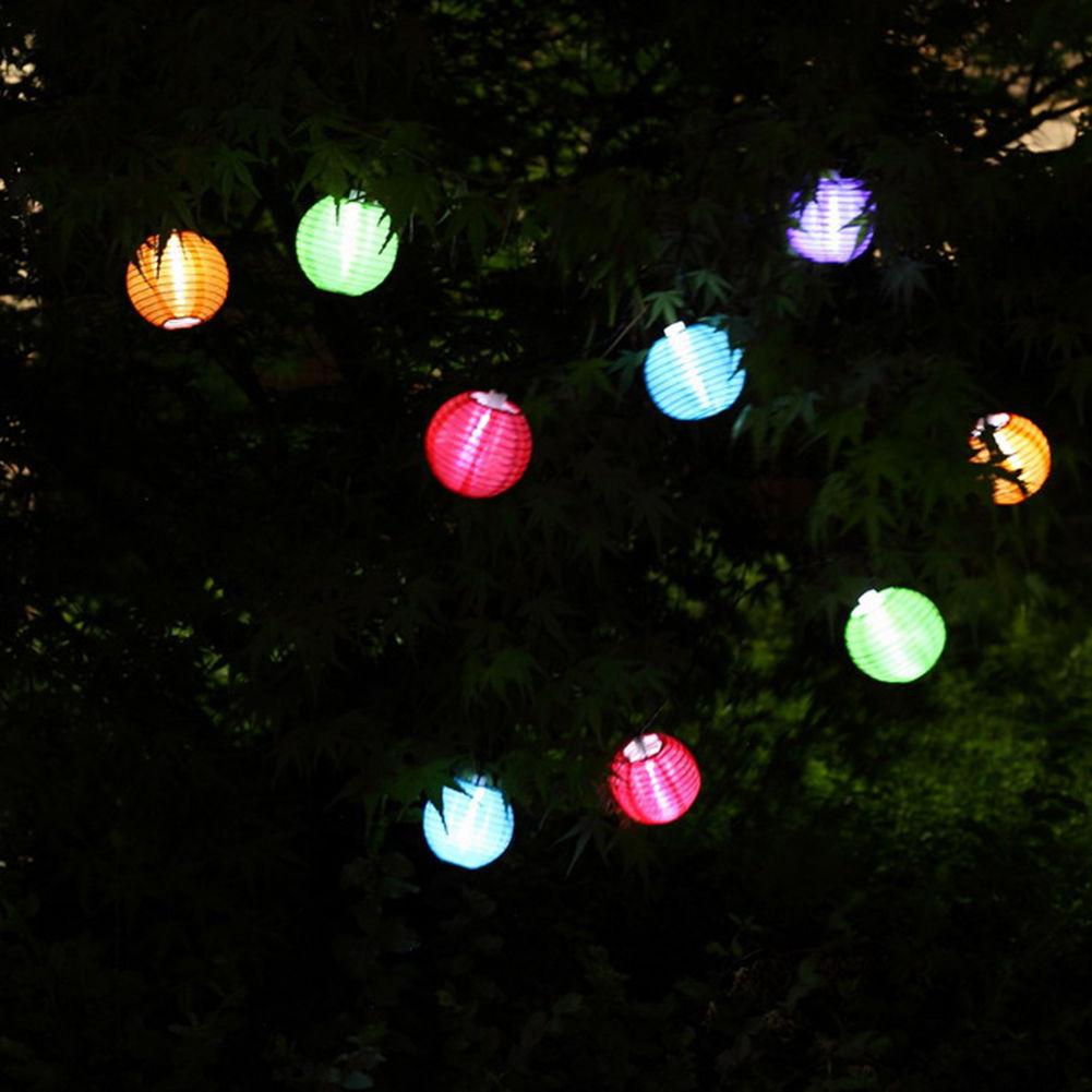 Pretty Solar Powered 10 LED Light Fairy String Lantern Lamp Garden Outdoor Decor