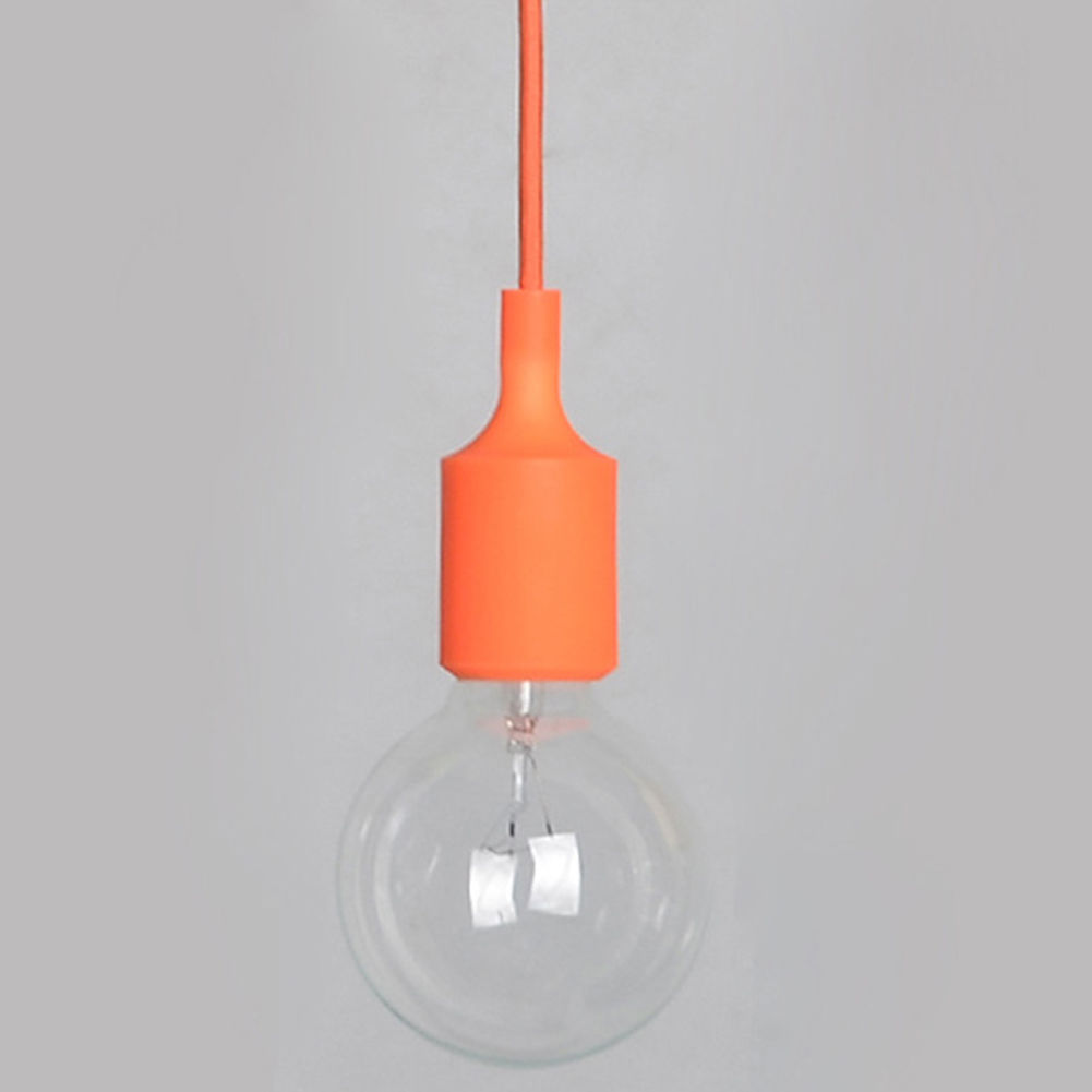 1xsilicone E27 Home Ceiling Pendant Lamp Light Bulb Holder Hanging Fixture Decor Ebay
