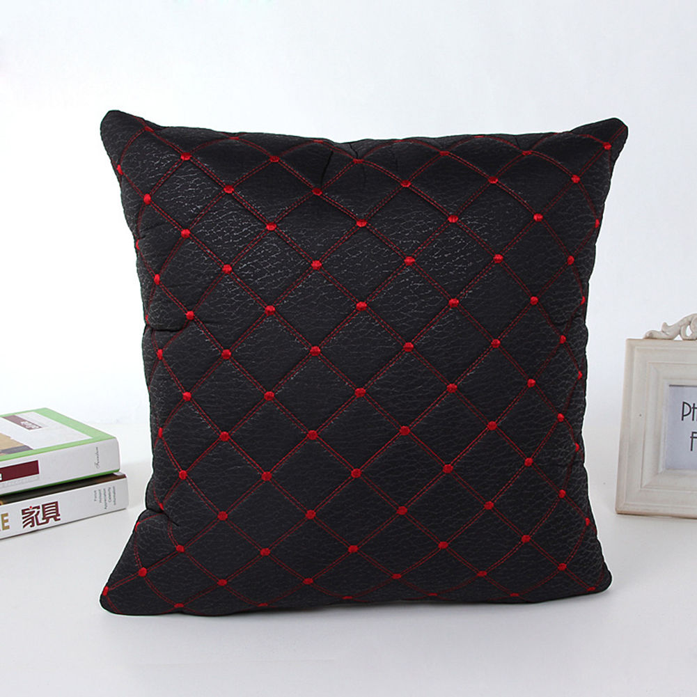 Square Throw Pillow Cases : Home Sofa Bed Decor Multicolored Plaids Throw Pillow Case Square Cushion Cover eBay