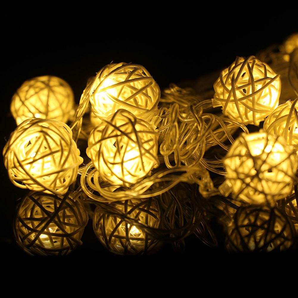 20 LED Garland Rattan Vine Ball Globe Fairy String Lights Party Home Decoration eBay