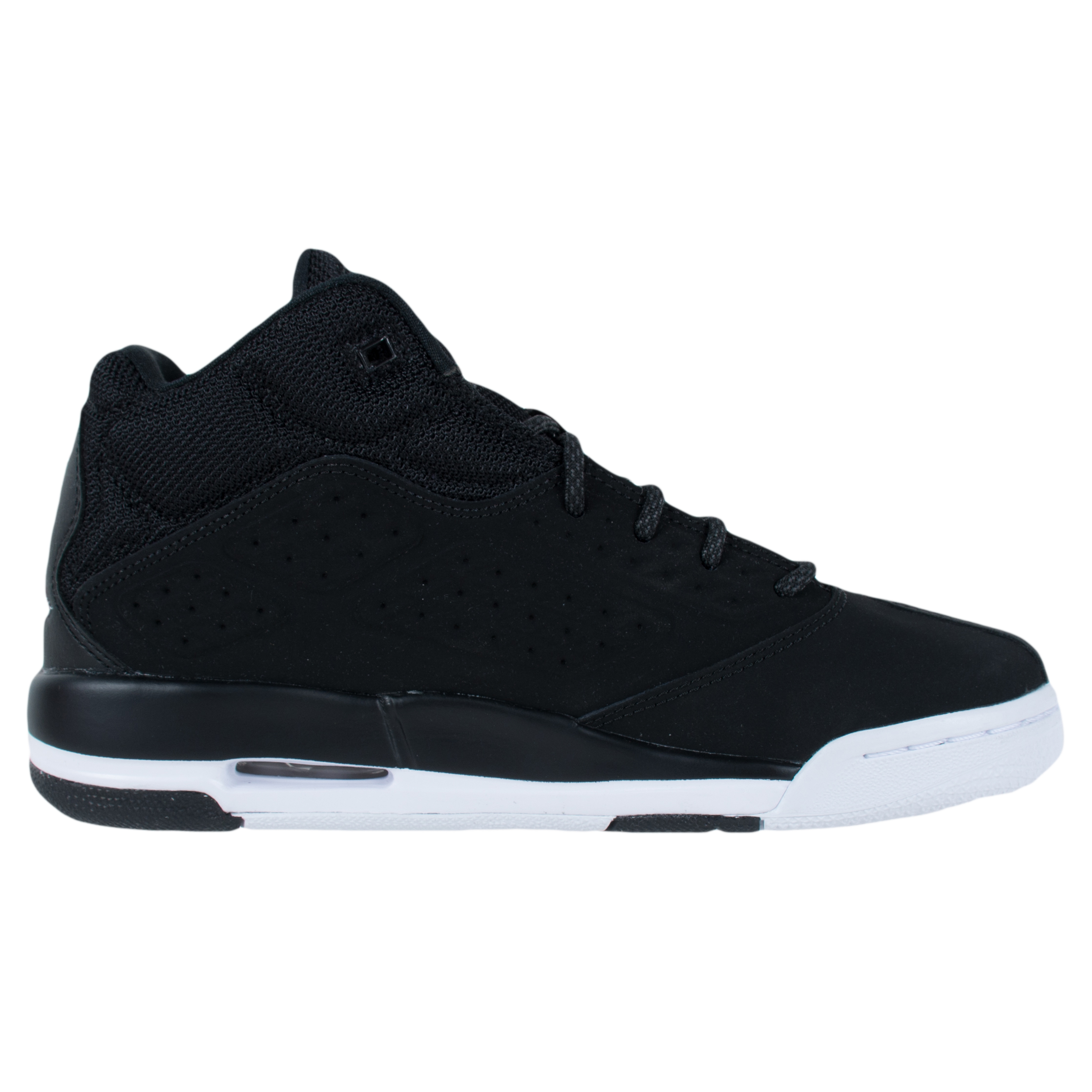 NIKE BOYS JORDAN NEW SCHOOL BASKETBALL SHOES BLACK WHITE ...