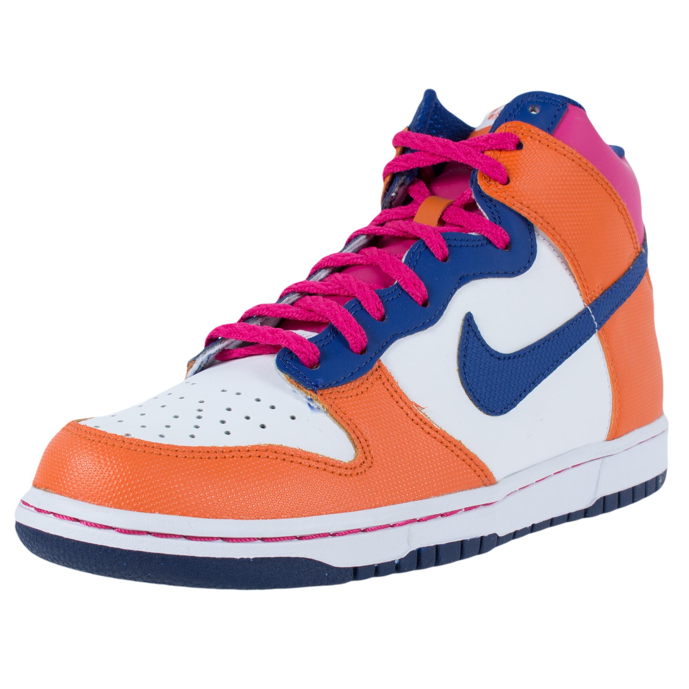 nike girls dunk high gs basketball shoes fireberry deep