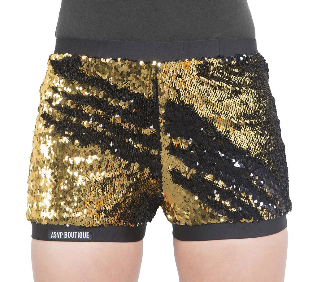 Find a selection of Gold Sequin designed for dancers. Great Prices and Free Shipping Offer! The Gold colorway has white sequins. For shorts worn with this style, see Two-Way Sequin Shorts - SQ Gotta Flurt's Hip Hop II high top dance sneaker is decked out with all-over black and gold sequins, and gold glitter piping trims the black.