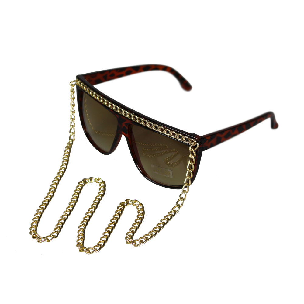 Black-Brown-Chain-Sunglasses-Lady-Glasses-Retro-Vintage-Designer