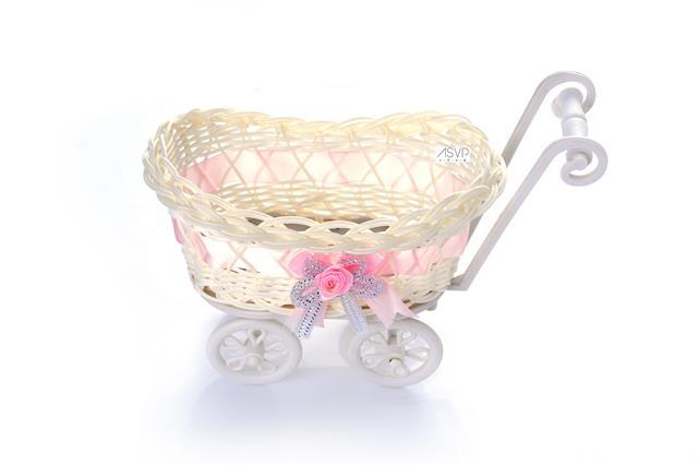 asvp shop baby pram small hamper wicker basket baby shower party gifts
