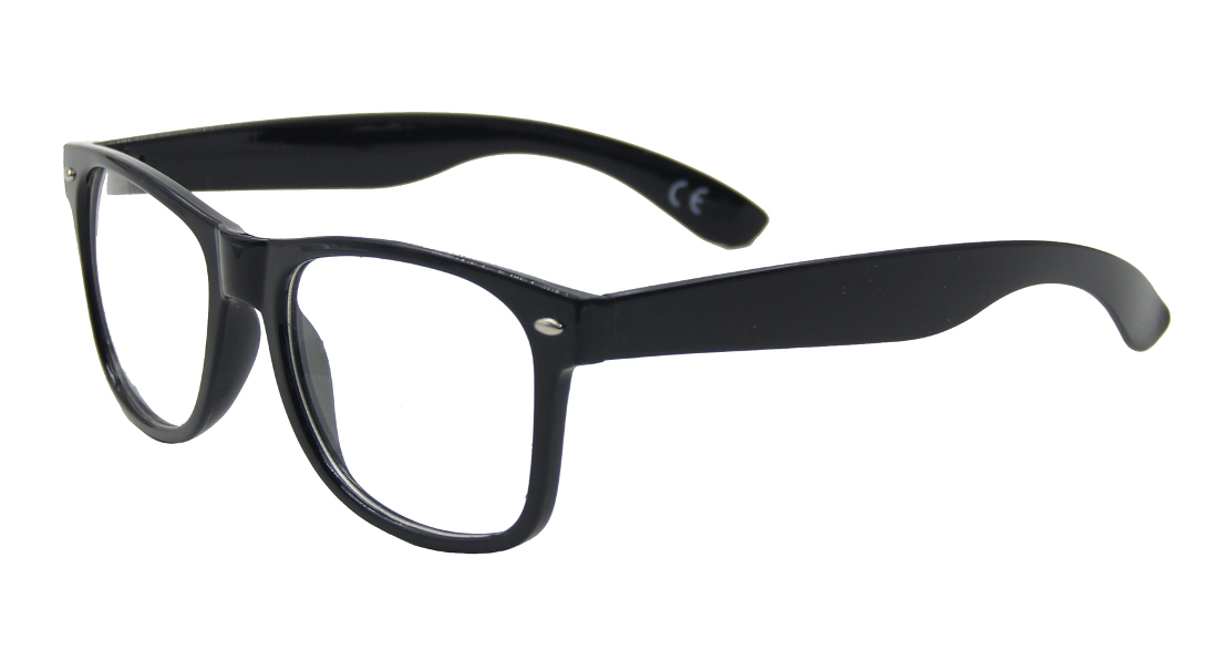 Black Frame Glasses Images : Fashion Slim Office Secretary Sexy Rectangle Clear Lens ...