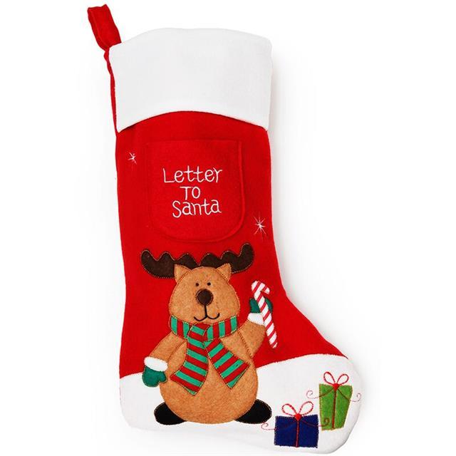 Letter To Santa Stocking For Children Festive Character