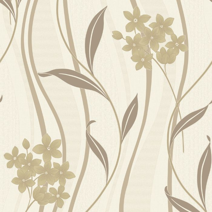 Superfresco Elise Natural Floral Wallpaper