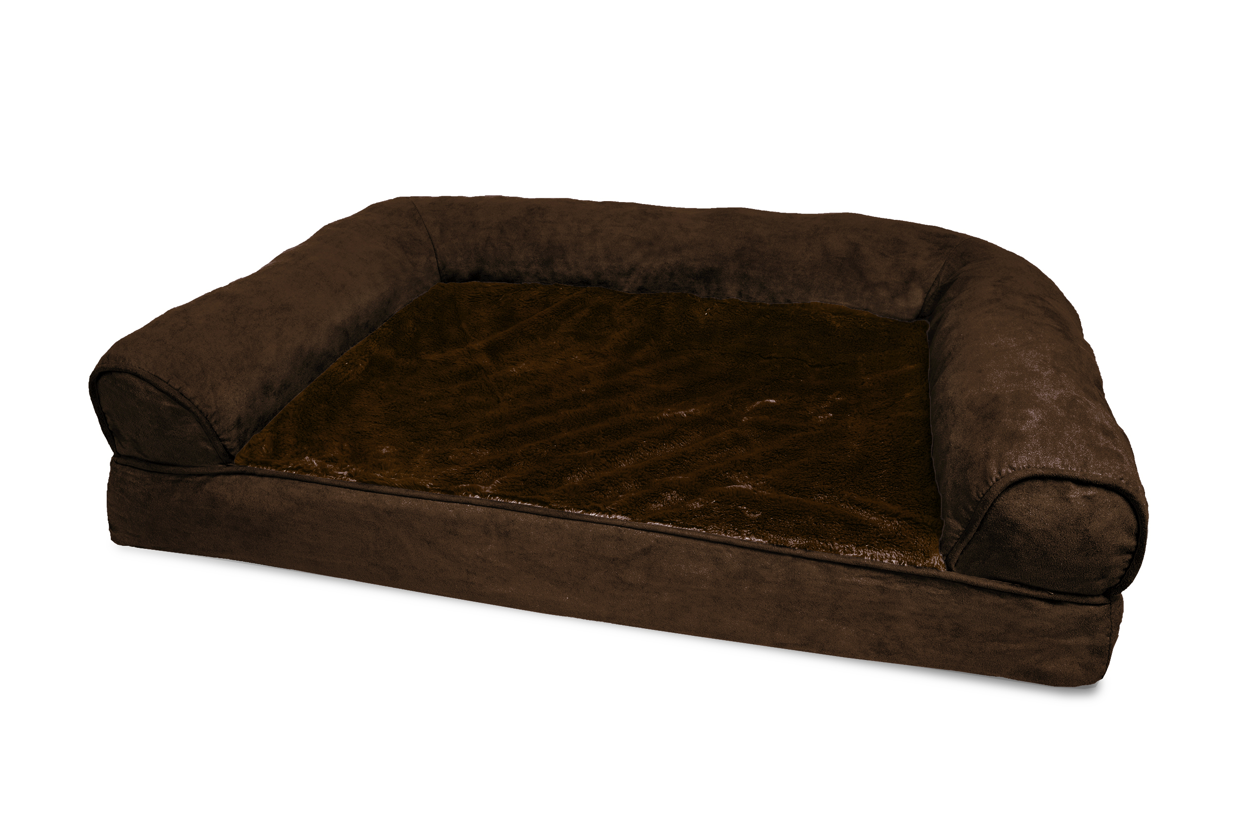 furhaven plush suede orthopedic dog sofa bed pet bed ebay With furhaven plush sofa pet bed