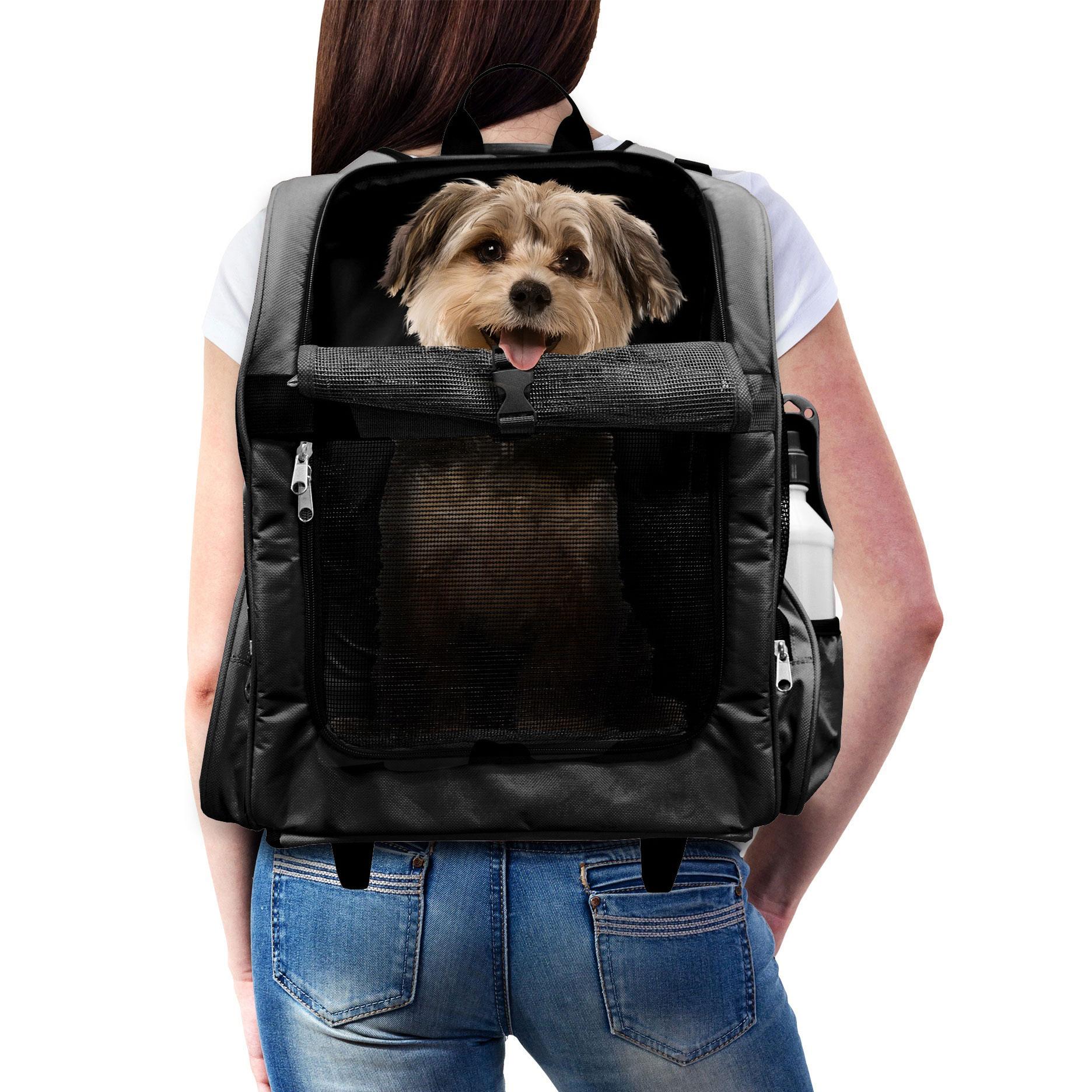 FurHaven Pet Backpack-Roller Carrier Travel Pet Carrier Dog ...