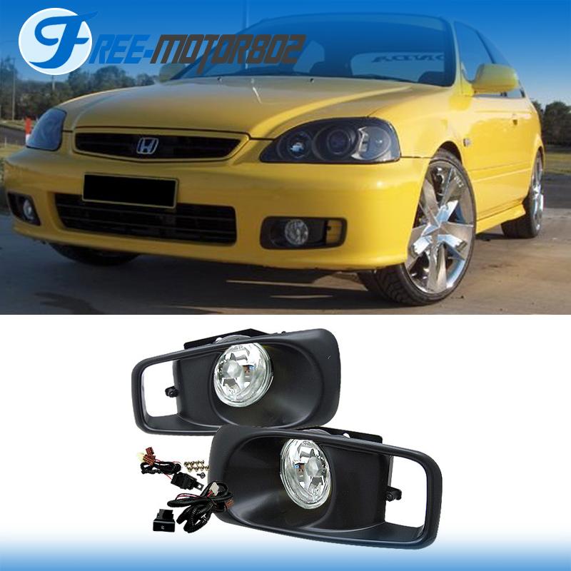 Fit 99 00 Honda Civic EK DX EX LX JDM Clear Front Bumper