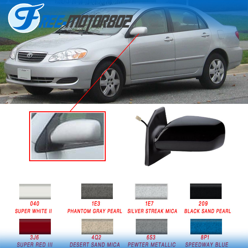 Painted Fit 03 08 Toyota Corolla Power Driver Side Rear