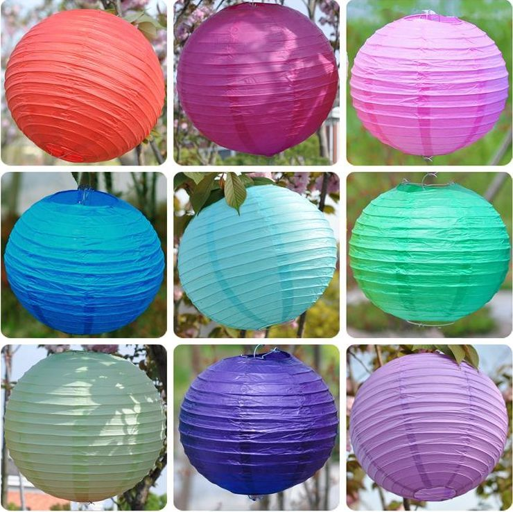 5pcs 4inch Colorful Chinese Paper Lantern Wedding Party Decoration Assorted New