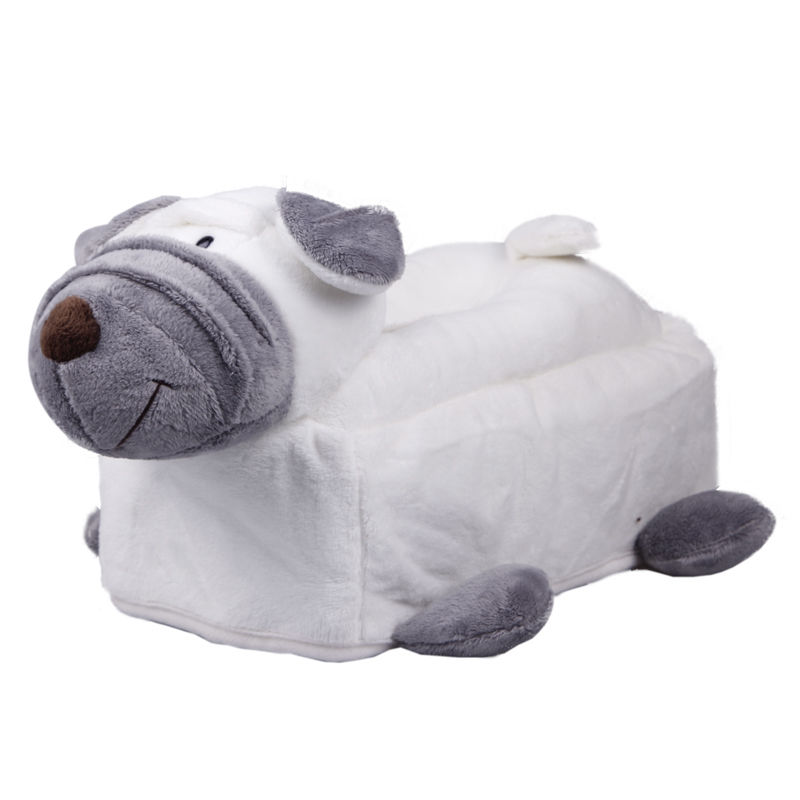 Novelty plush animal tissue cover box room car toilet soft Animal toilet paper holder