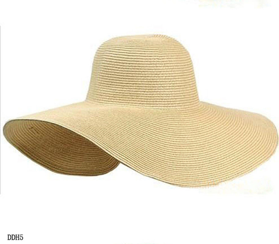 fashion womens wide large brim floppy summer sun hat