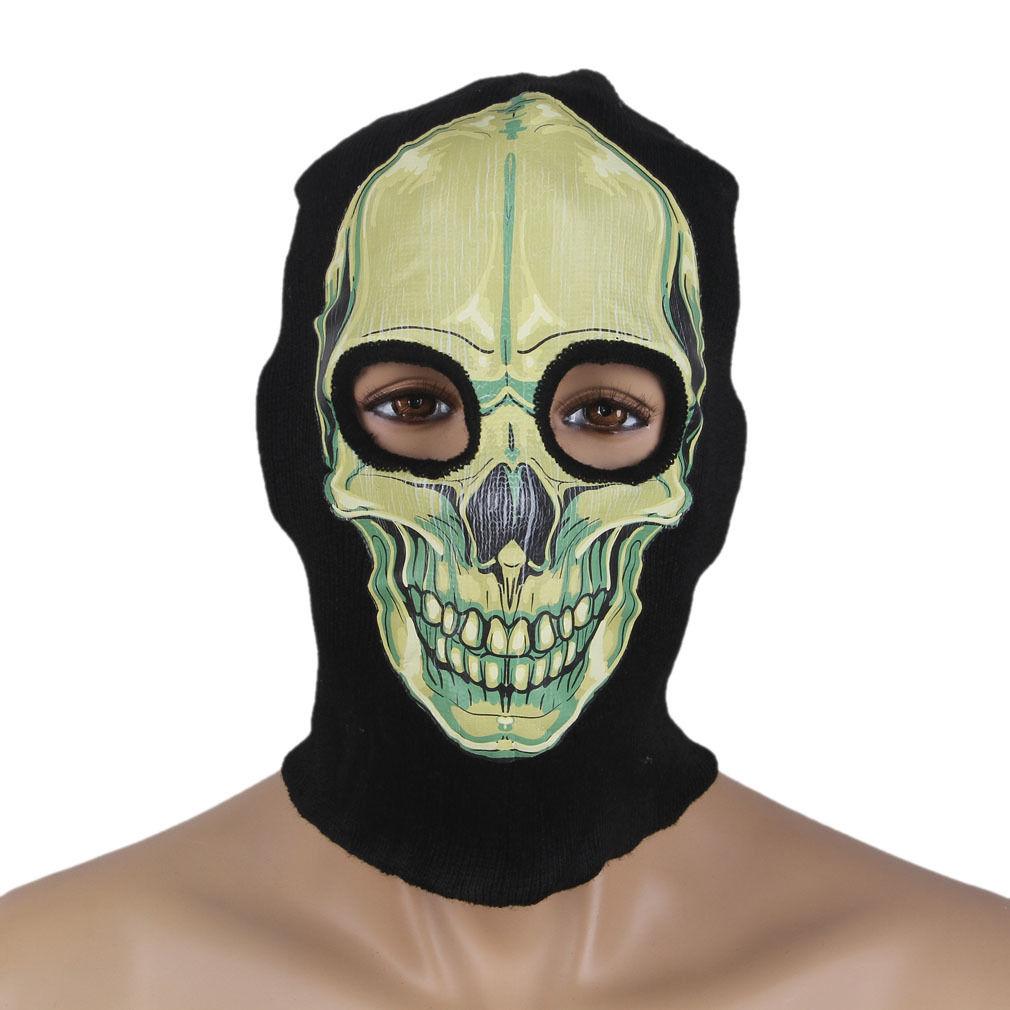 Mens Womens Balaclava Ghost Full Face Skull Mask Halloween ...