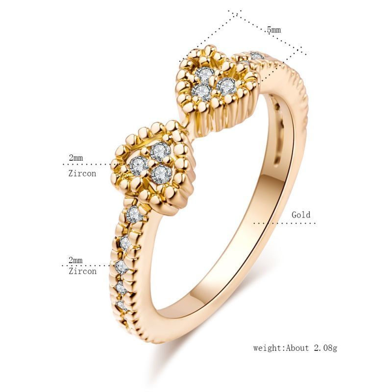 women rings s diamond gift silver ring engagement womens thin anniversary size single ribbon elegant gold rose rhinestone wedding cz products twisted exquisite