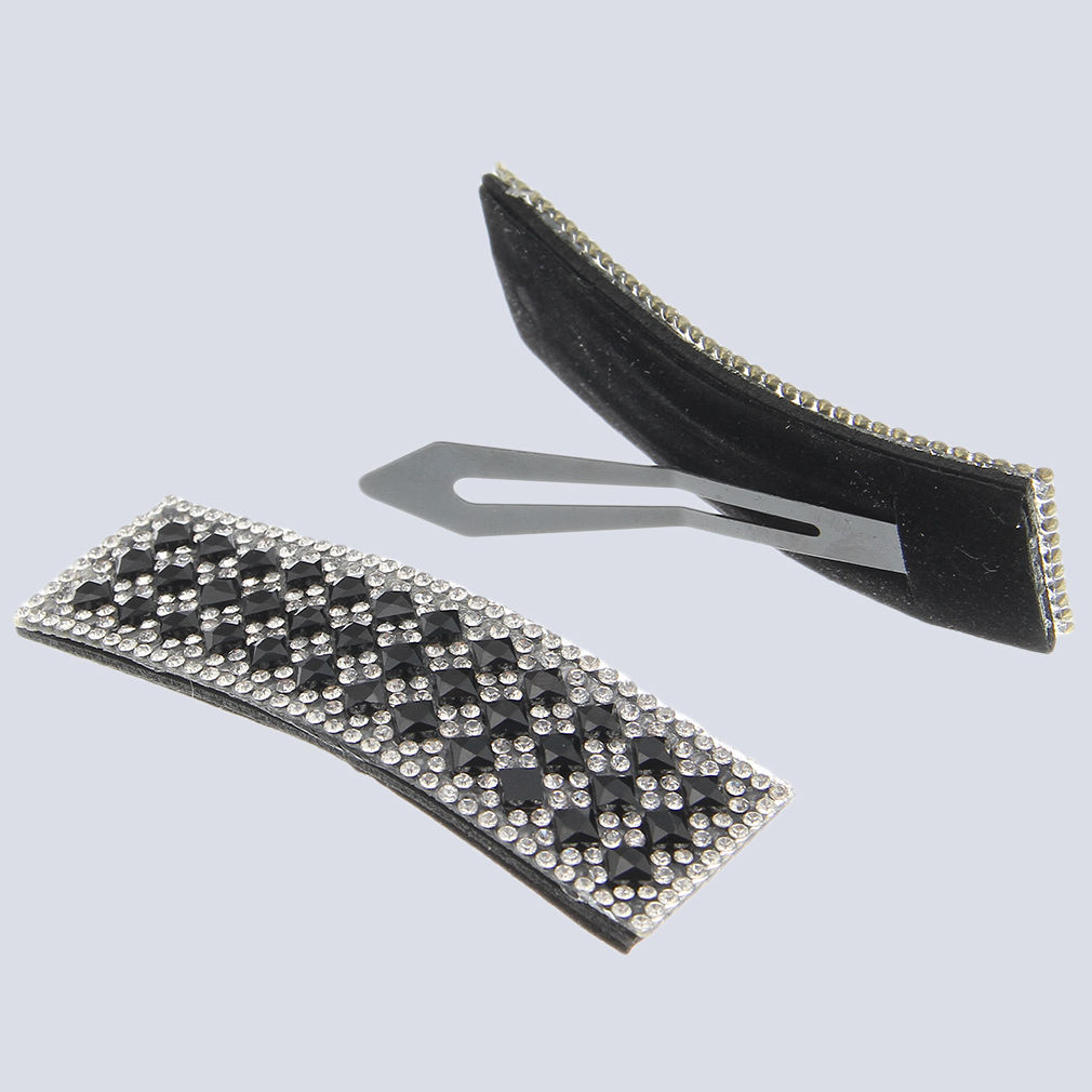 Fashion Women Girls Crystal Rhinestone Barrette Hair Clips Hairpin Accessories