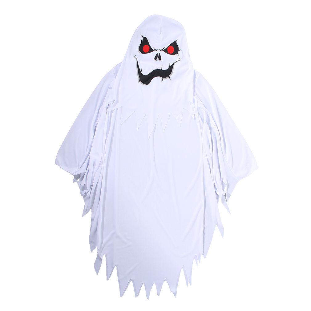 White-ghost-Masquerade-kids-costume-unisex-children-Halloween-fancy-dress