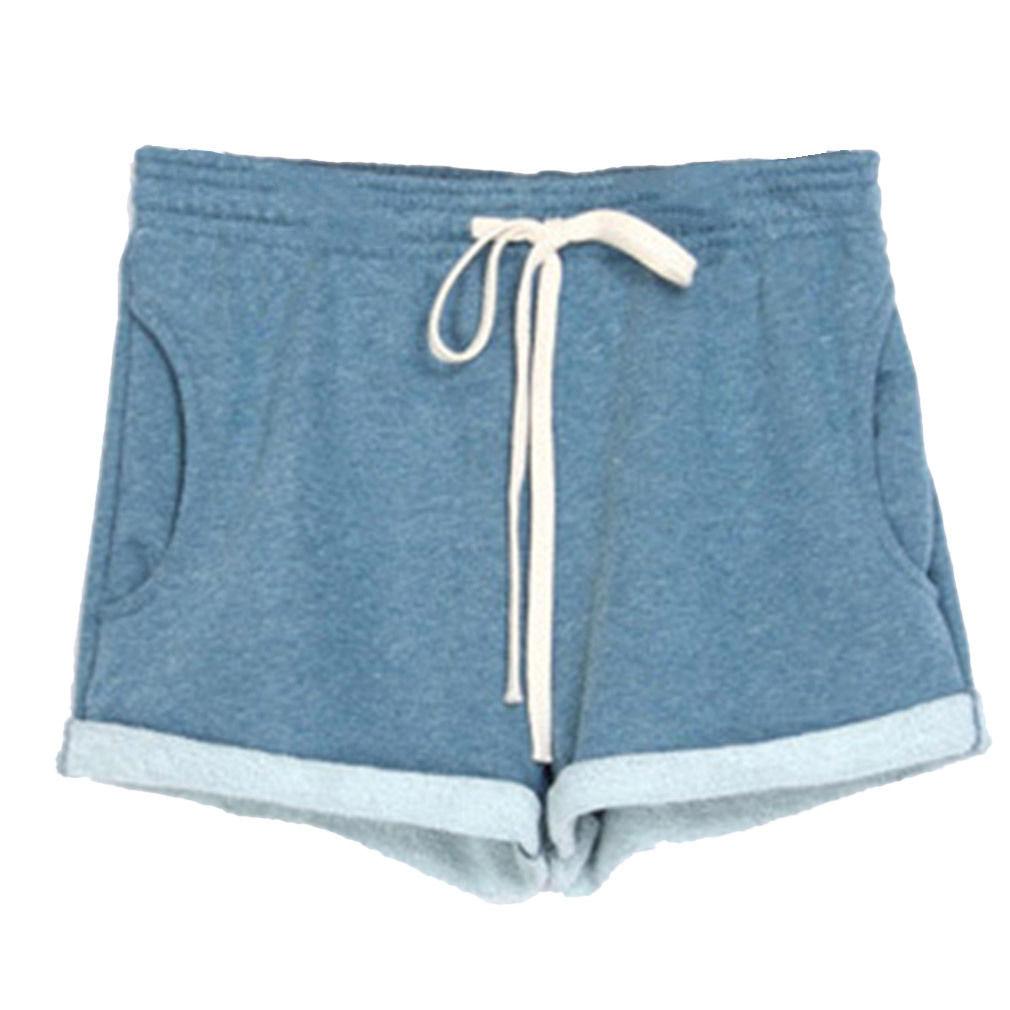 Women Summer Training Jogging Yoga Sport Loose Shorts Pants Boyshorts Boxer Soft