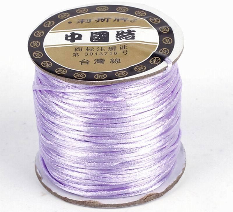 Pick 70m 1.5mm Jewelry Cord Chinese Knot Nylon Rattail Thread Wire Handcraft DIY