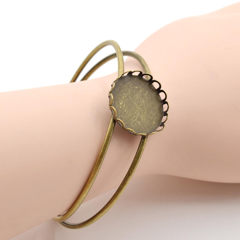 DIY Schmuckbasteln Vintage Armband Rohling Tablett Ring Reif Bracelet Zubehör