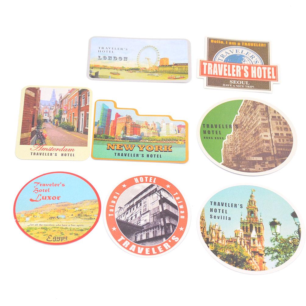 vintage reise briefmarke flugzeug sticker aufkleber notizbuch tagebuch scrapbook. Black Bedroom Furniture Sets. Home Design Ideas