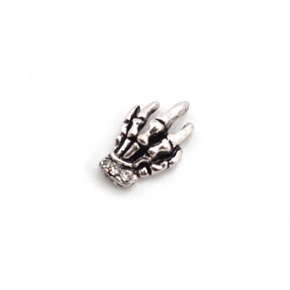 Skelett Knochen Hand Form Fingernägel Fußnägel Aufkleber Maniküre ...