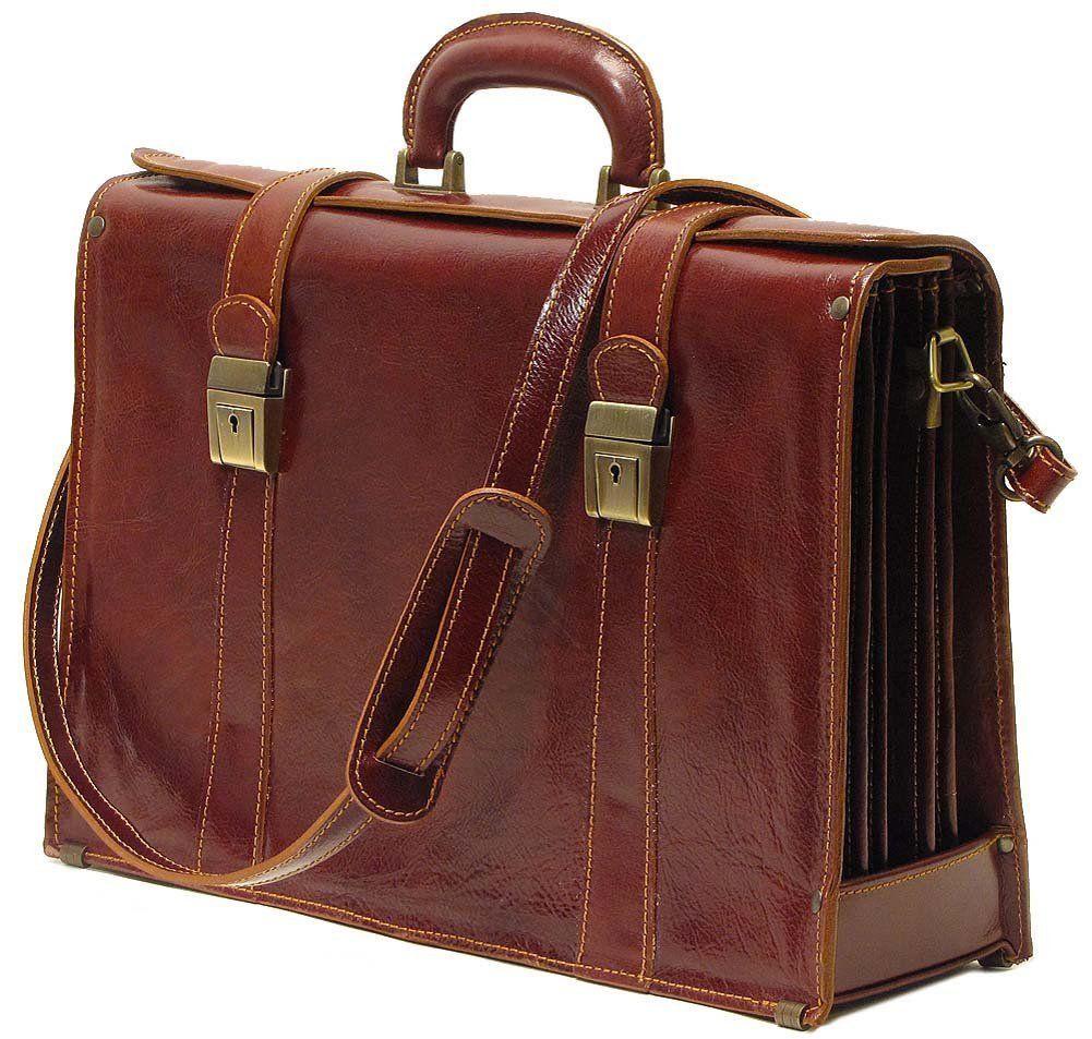 Floto Trastevere Leather Briefcase Italian Laptop Business Bag | EBay