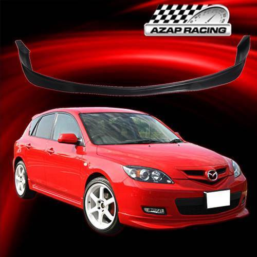2008 Mazda6 4 Door Oem Style Spoiler: 07-09 MS Style Urethane Front Bumper Lip Spoiler Black For Mazda 3 5Dr Hatchback