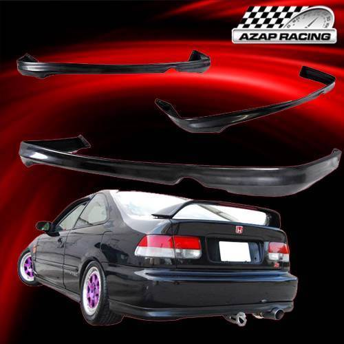 1999 2000 t r style black rear bumper lip spoiler bodykit. Black Bedroom Furniture Sets. Home Design Ideas