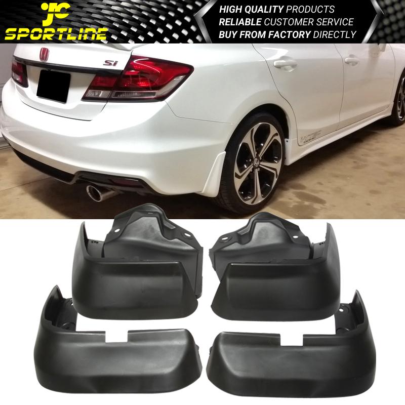 Fit 12-14 Honda Civic Sedan 4PCS Plastic Front Rear Splash Fender Mud Flap Guard
