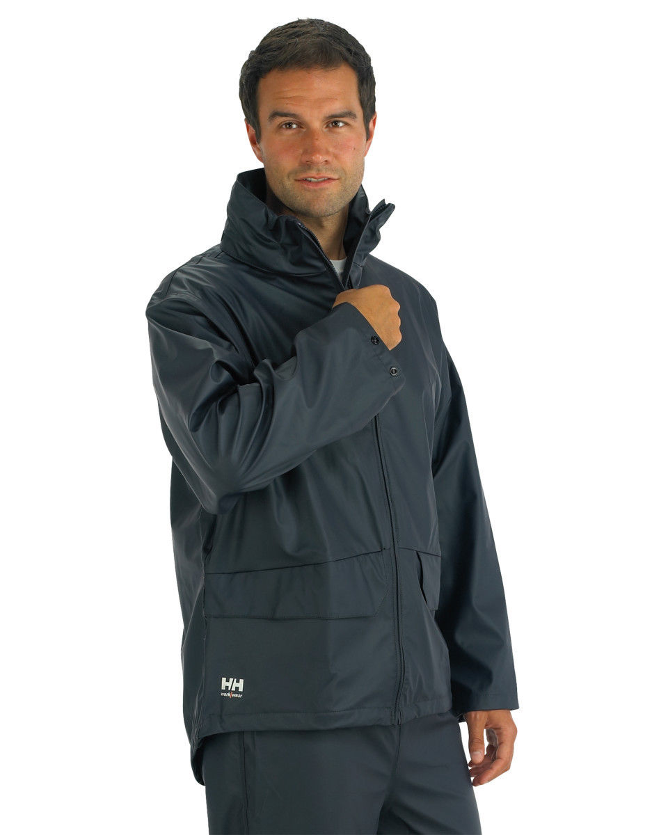 helly hansen mens full zip waterproof voss jacket coat 70180 ebay. Black Bedroom Furniture Sets. Home Design Ideas