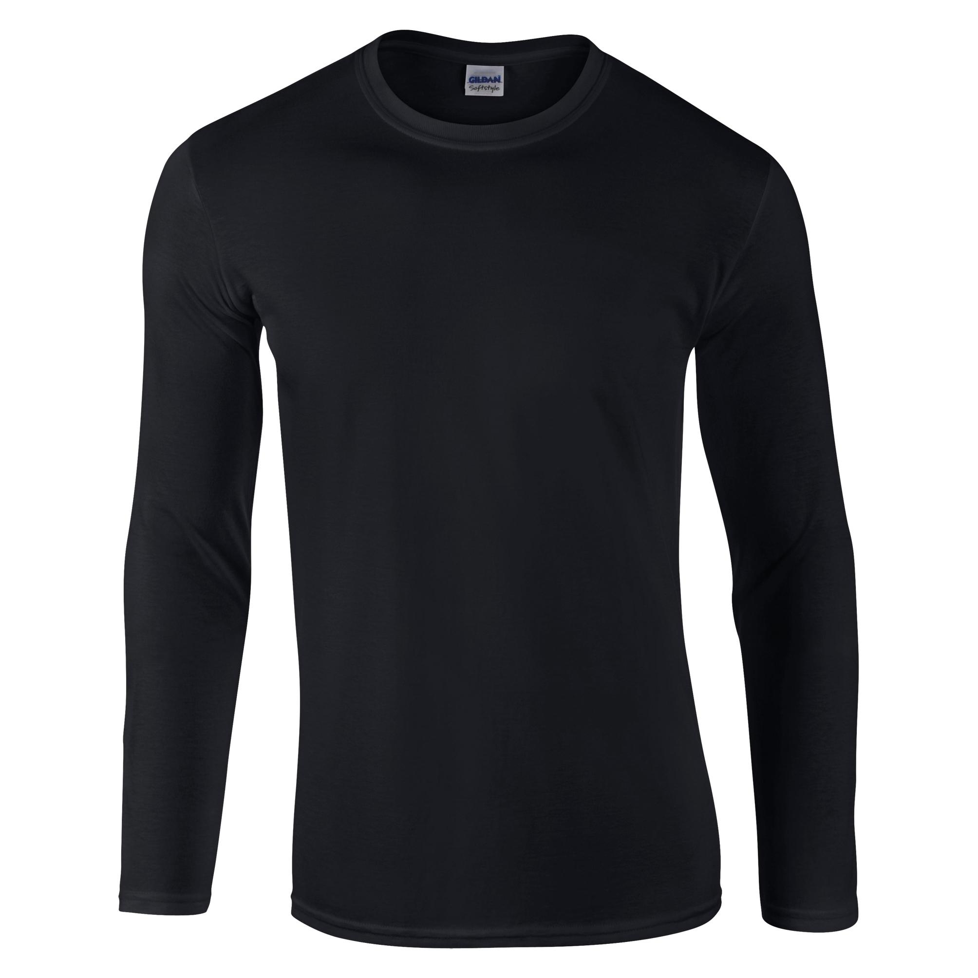 Gildan men 39 s soft style long sleeve plain t shirt 64400 for Gildan t shirt styles