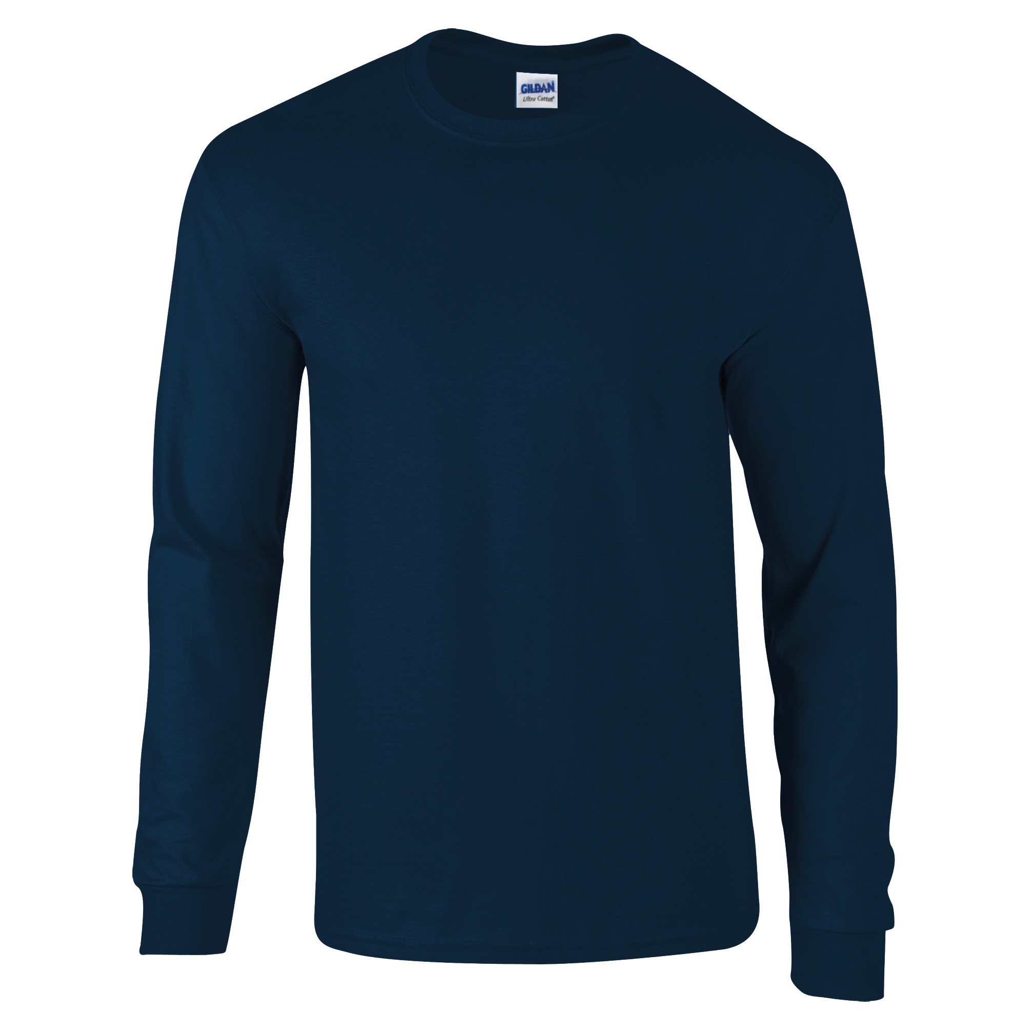 Gildan ultra cotton mens long sleeve crew neck t shirt 100 for Mens 100 cotton t shirts