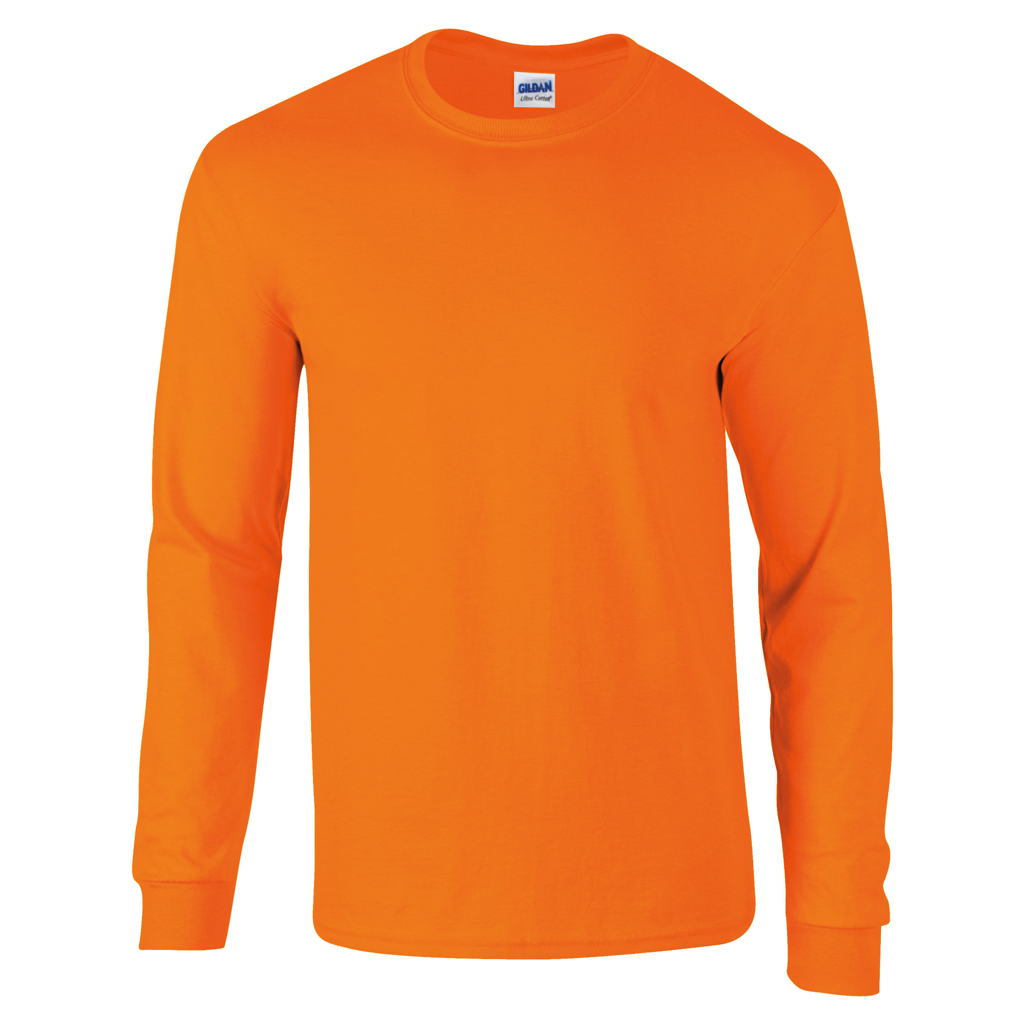 Gildan ultra cotton mens long sleeve crew neck t shirt 100 for Mens 100 cotton long sleeve t shirts