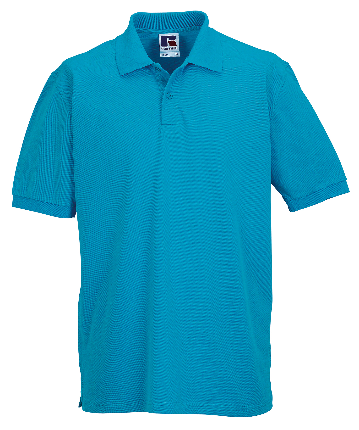 Russell classic cotton polo shirt 569m for Cotton on polo shirt