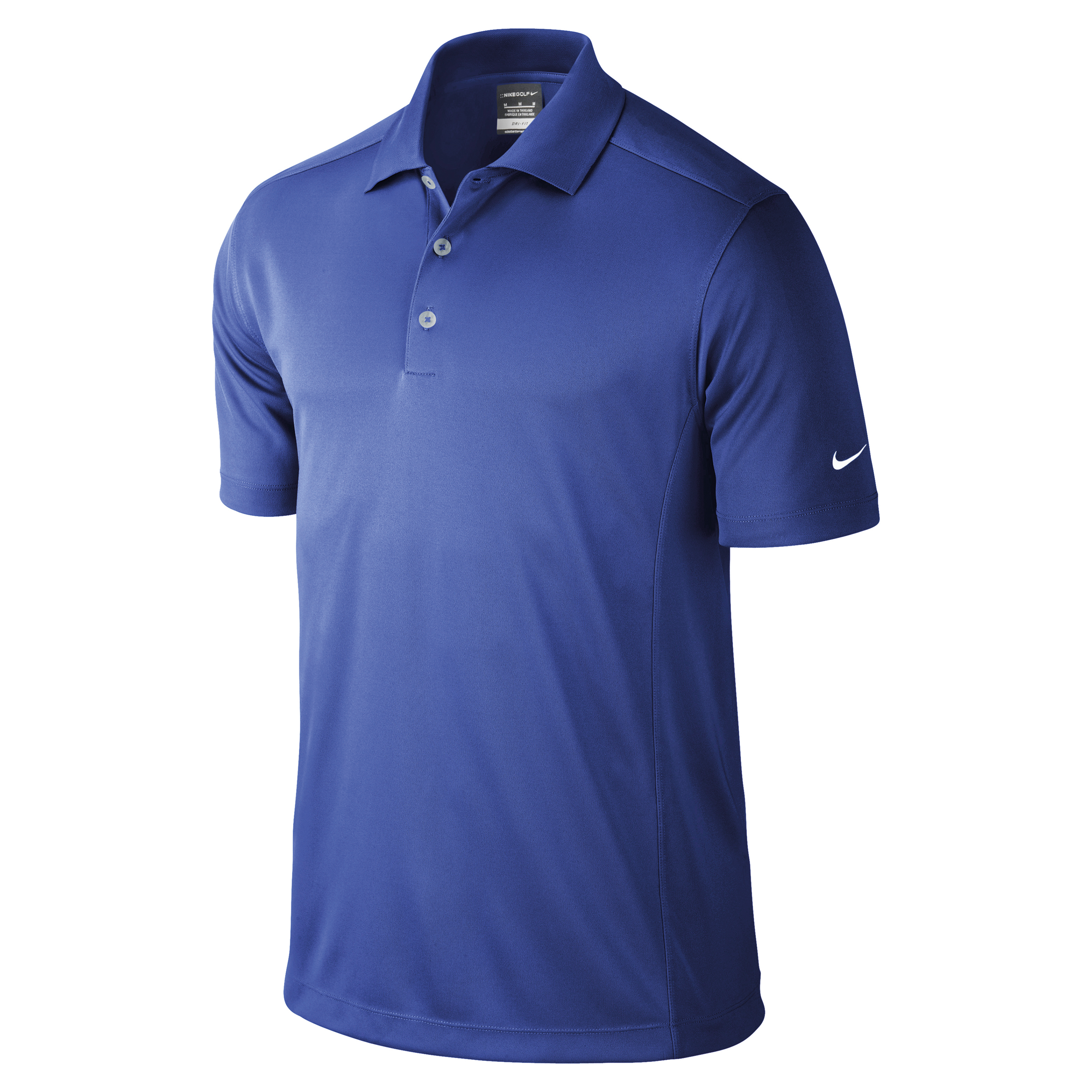 Nike Golf Mens Dri Fit Solid Short Sleeve Solid Polo Shirt