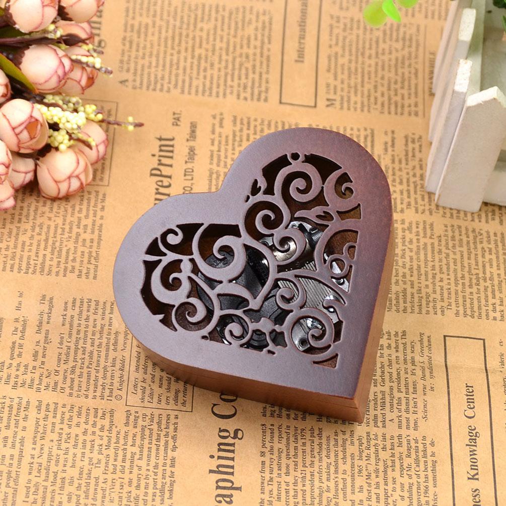 Wohnung Dekoration Herz Form Retro Spieldose Spieluhr