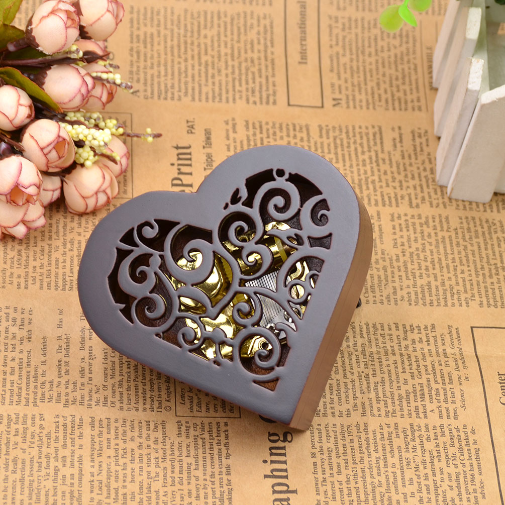 wohnung dekoration herz form retro spieldose spieluhr. Black Bedroom Furniture Sets. Home Design Ideas